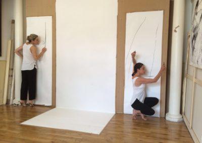 Photo of Cheryl with dance artist Marie Louise Flexen